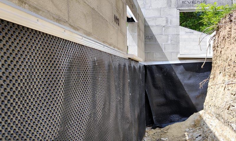 MJS Etanchéité de mur enterré sur un bâtiment neuf