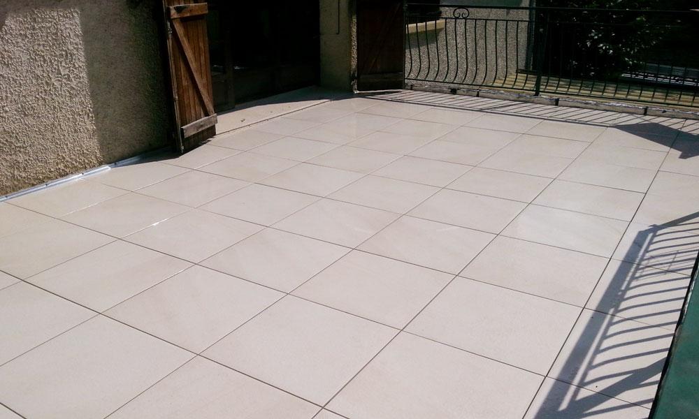 MJS Étanchéité de terrasse en dalles sur balcon