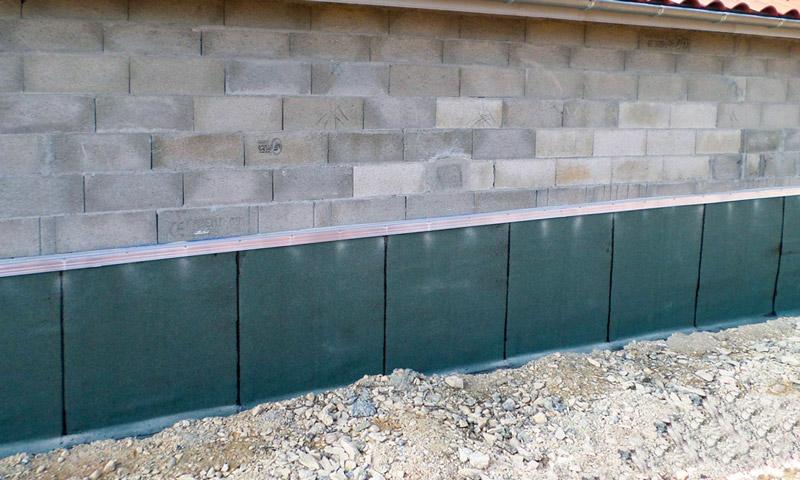 MJS Étanchéité de mur enterré avec des plaques protectrices